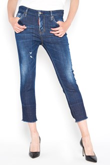 DSQUARED2 5 pocket 'Cool girl' cropped jeans
