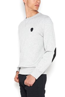ALEXANDER MCQUEEN Cotton jumper with skull patch and patches on sleeves