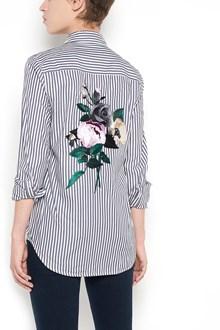 EQUIPMENT long sleeves stripes shirt