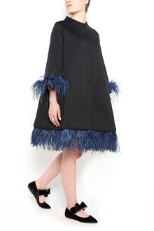 """GIANLUCA CAPANNOLO """"capucine coat"""" with feathers on hem"""