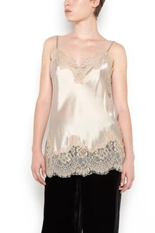 "GOLD HAWK ""coco"" silk and lace top"