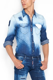 DSQUARED2 Denim shirt with white pocket on front