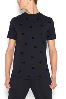 McQ ALEXANDER McQUEEN T -shirt with velvet swallows all over
