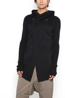 RICK OWENS Hooded cardigan with ribbed details