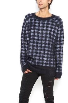 HAIDER ACKERMANN Crew-neck mohair pied de poule sweater