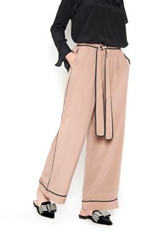 GOLD HAWK trousers with black bands on side and belt