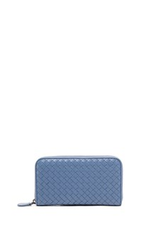 "BOTTEGA VENETA zip around ""continental"" leather  wallet"