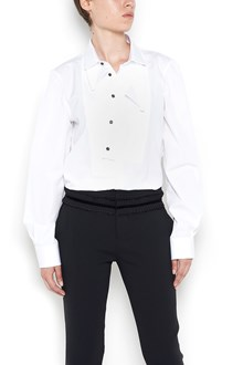 DSQUARED2 asimmetrical collar shirt with smoking detail