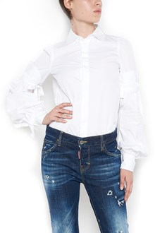 DSQUARED2 long sleeves cotton shirt with bow details