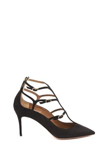 AQUAZZURA calf leather 'Eternity' pumps in suede with back zip
