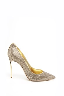CASADEI gold all over glittered pumps