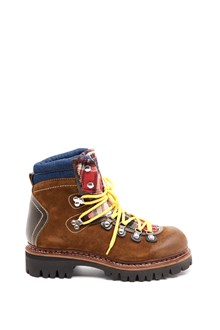 DSQUARED2 Suede checked  mountain bootie