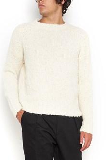 MA'RY'YA crew neck bouclè sweater