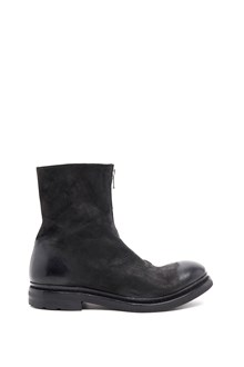 THE LAST CONSPIRACY horse leather  ankle boots with frontal zip
