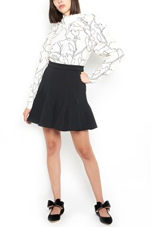 """CARVEN printed """"magnolia"""" blouse with curly sleeves"""