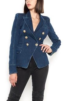 BALMAIN tailleur denim jacket with six buttons