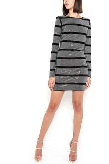 BALMAIN velvet and strass dress