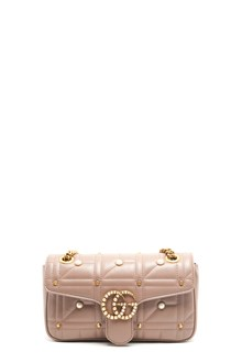 "GUCCI shoulder bag ""marmont"" with perls and studs"