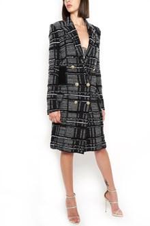BALMAIN tweed coat with pockets