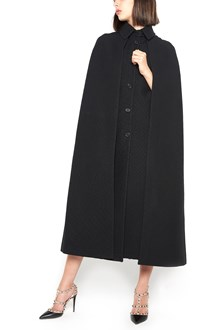 VALENTINO long cape with pleated back