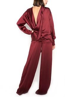 VALENTINO silk shirt with naked back