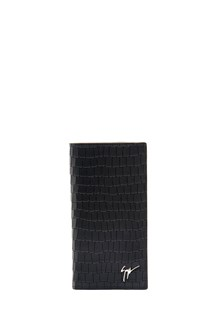 GIUSEPPE ZANOTTI DESIGN Card holder with coco leather and logo