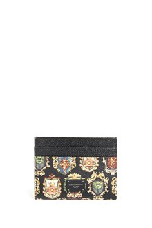 DOLCE & GABBANA Dauphine leather cardholder with prints
