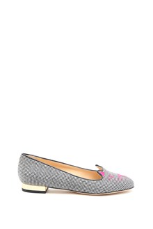 CHARLOTTE OLYMPIA Flat shoes in pied de poule