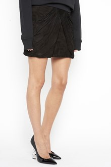 SAINT LAURENT Suede mini skirt