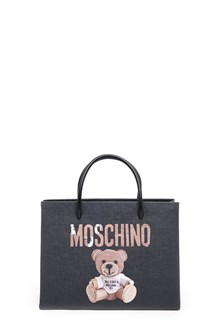 MOSCHINO Hand bag in leather with logo
