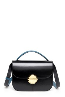 MARNI shoulder bag in leather with gold application
