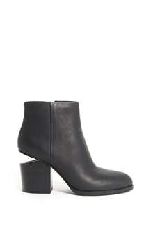 ALEXANDER WANG 'Gabi' leather zipped booties with heel detail