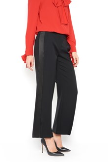 ALEXANDER MCQUEEN Cropped wool and silk trousers