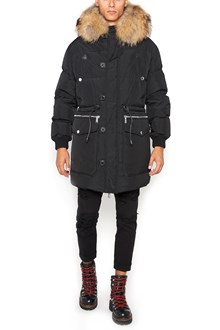 DSQUARED2 padded jacket with fur hood