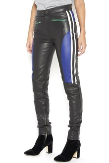 HILFIGER 'Biker' leather trousers with multicolor details