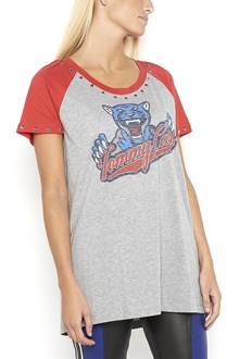 HILFIGER 'Tommy cats' printed studded cotton t-shirt