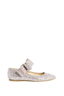 POLLY PLUME 'Bonnie Bow' glittered flat with bow
