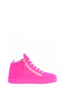 GIUSEPPE ZANOTTI DESIGN Suede zipped high-top sneaker hand aerated