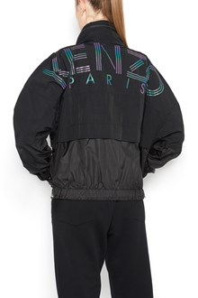 KENZO Nylon zipped bomber jacket  with back logo print