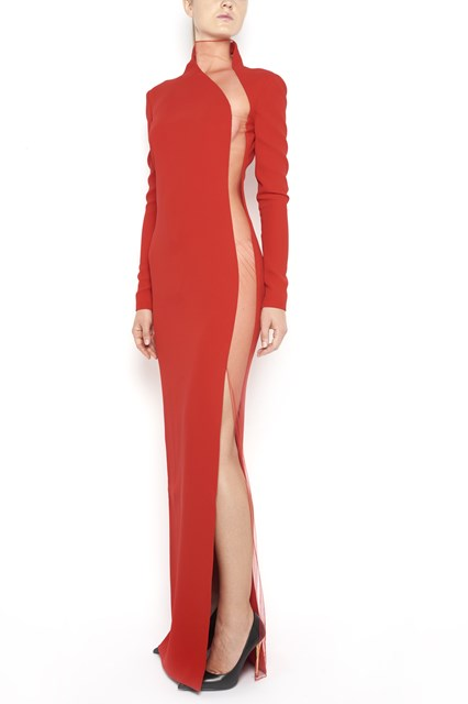 TOM FORD transparent side long dress