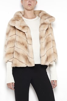 YVES SALOMON short 'Raex' lapin shearling