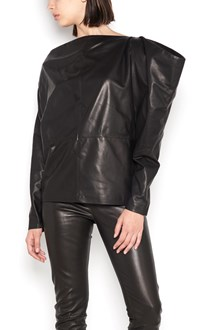 TOM FORD leather long sleeves top