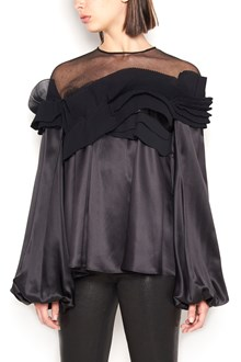 GIVENCHY silk and tulle blouse