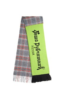 GOSHA RUBCHINSKIY mix check football scarf