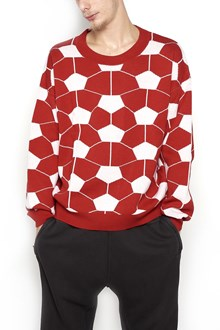 GOSHA RUBCHINSKIY 'Hexagon' sweater with soccer ball print