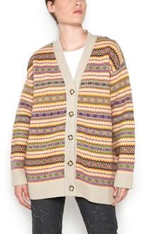 STELLA MCCARTNEY 'paul scarf' wool button up cardigan