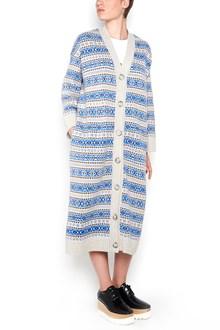 STELLA MCCARTNEY 'paul scarf' wool button up long cardigan