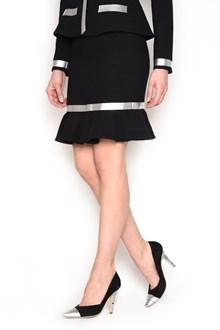 MOSCHINO wool skirt with rouches