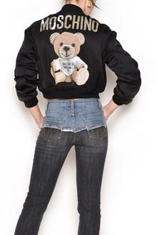 MOSCHINO 'Teddy Bear' pinted bomber jacket