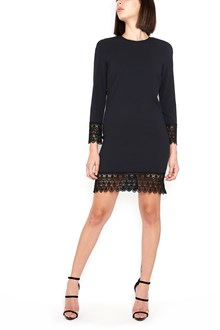 DSQUARED2 long sleeves dress with embroidered hem